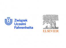 Logotypy Związku Uczelni oraz Elsevier