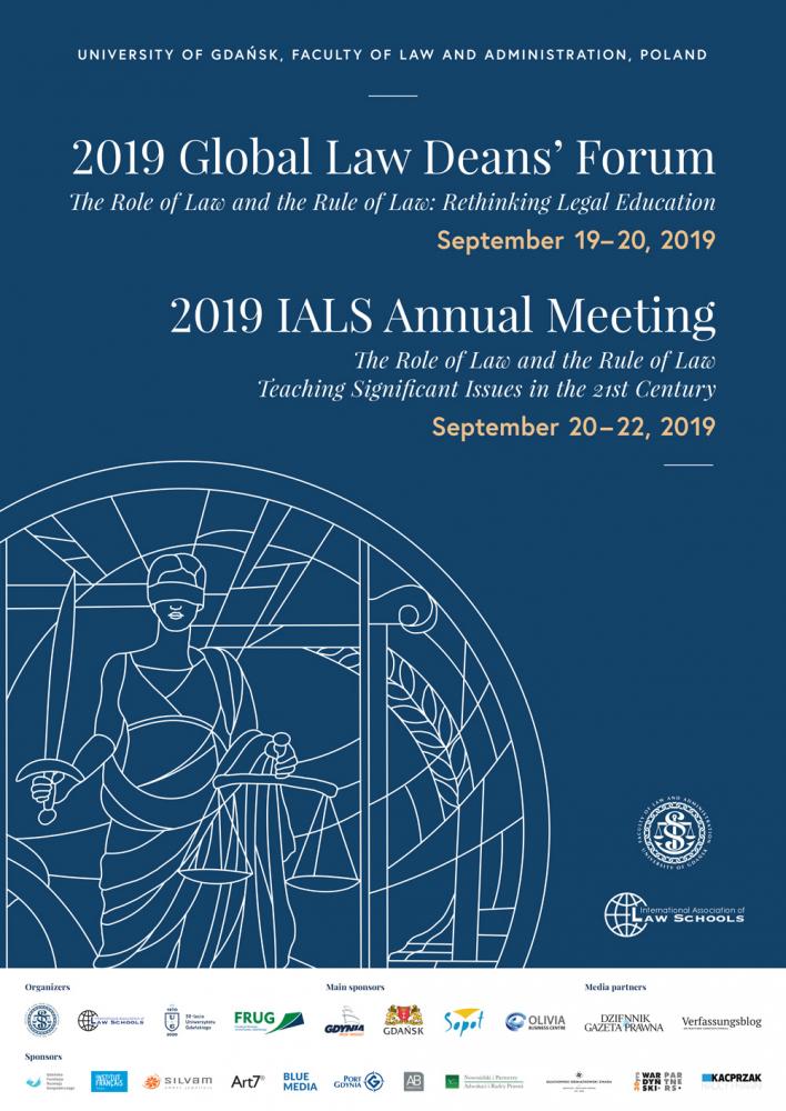 Plakat Światowe Forum Dziekanów Prawa