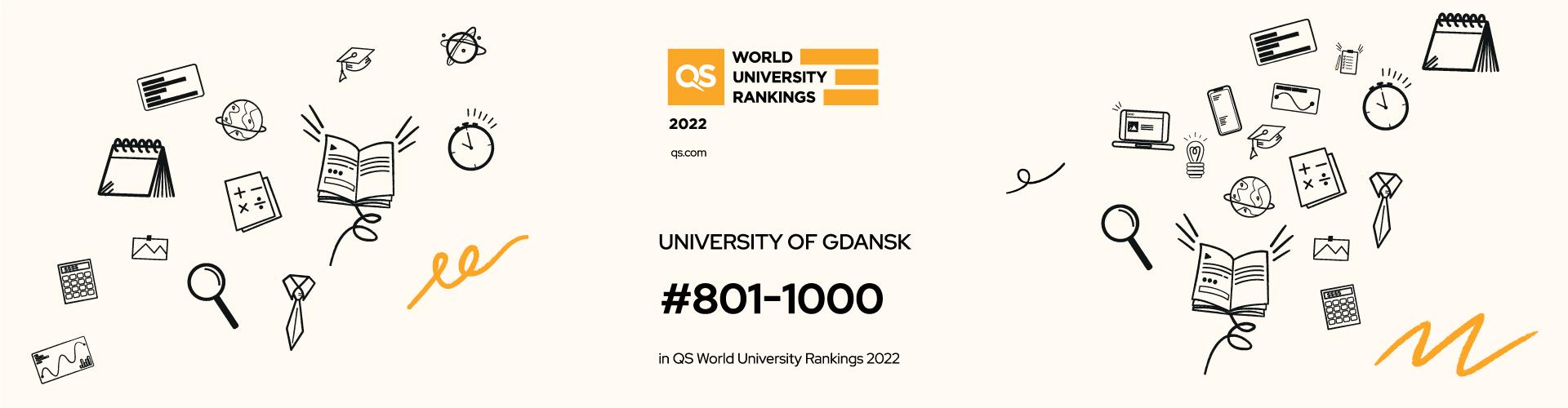 Uniwersytet Gdański w prestiżowym rankingu QS World University Ranking 2022