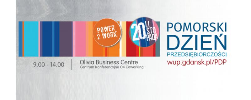 graficzny banner dotyczący Pomorskiego Dnia Przedsiębiorczości