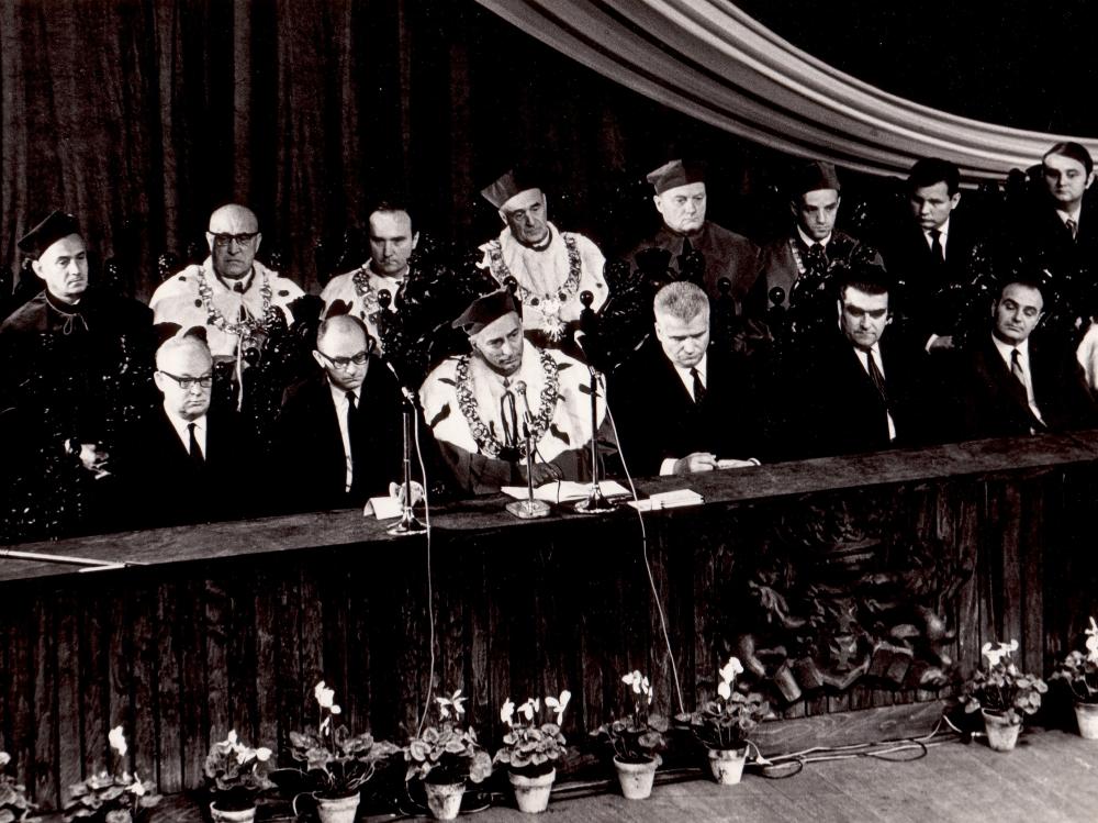 Inauguracja pierwszego roku akademickiego UG 1 października 1970 roku