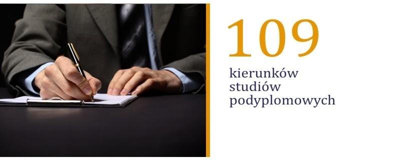 109 kierunkow studiow podyplomowych