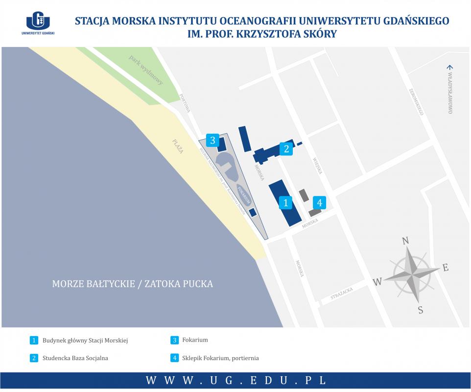 Stacja Morska Instytutu Oceanografii UG - mapa