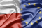 Flaga Polski i UE