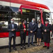 Zdjęcia z uroczystości nadania tramwajowi gdańskiemu imienia prof. Anny Jadwigi Podhajskiej