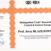 """Wyróżnienie dla prof. Błażejowskiego: """"Distinguished TA&C Researcher in Central & Eastern Europe"""""""