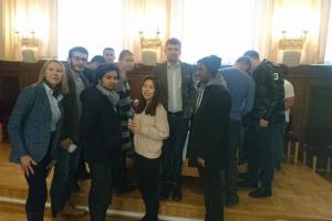 Spotkanie studentów International Business z prezydentem Sopotu