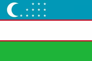 Flaga Uzbekistanu