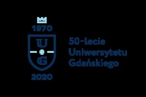 logo 50-lecia Uniwersytetu Gdańskiego