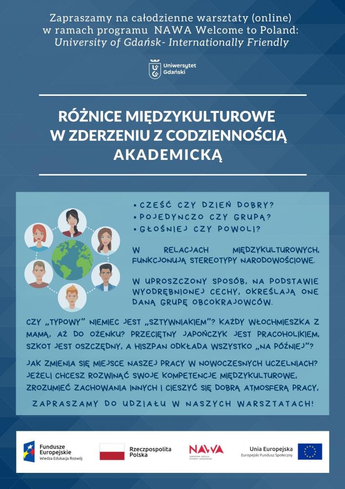 Warsztaty międzykulturowe plakat informacyjny