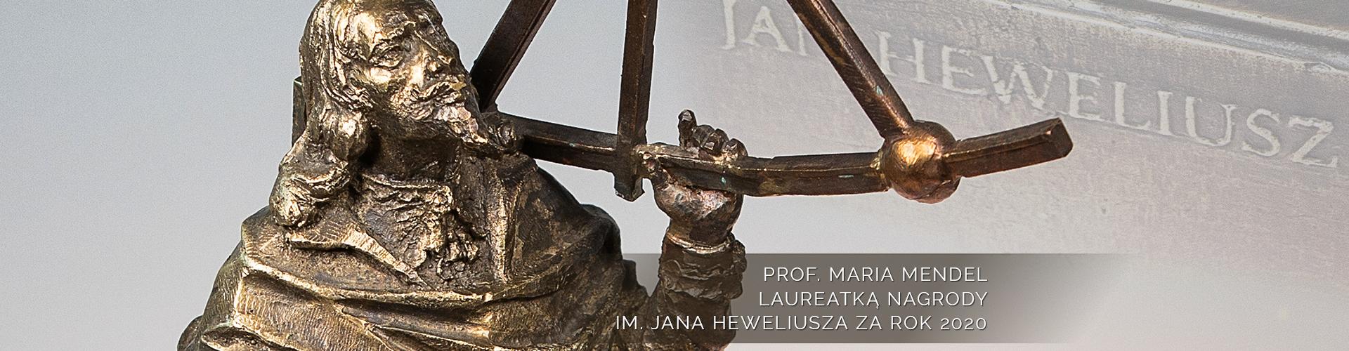 Profesor Maria Mendel laureatką Nagrody im. Jana Heweliusza za rok 2020